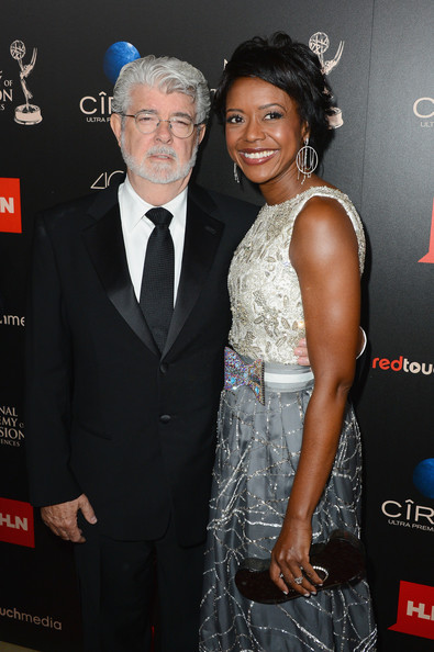 Producer/director George Lucas and Mellody Hobson attend The 40th Annual Daytime Emmy Awards at The Beverly Hilton Hotel on June 16, 2013 in Beverly Hills, California