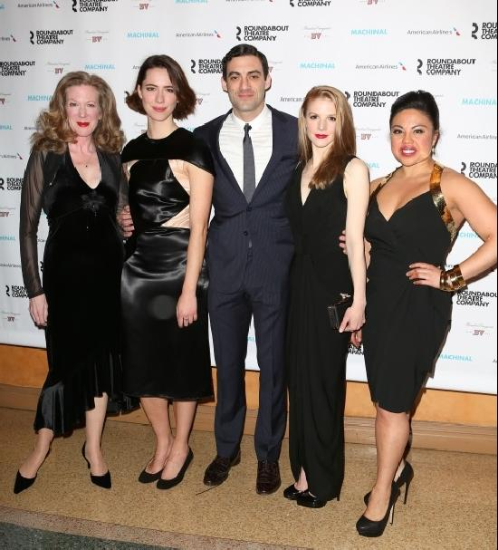 MACHINAL's Henny Russell, Rebecca Hall, Morgan Spector, Ashley Bell, Maria-Christina Oliveras