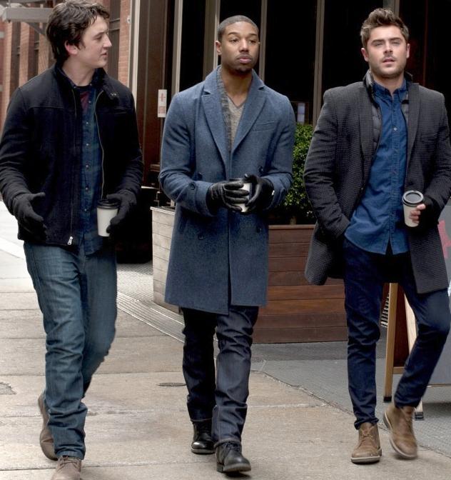 (L-R) Miles Teller, Michael B. Jordan and Zac Efron