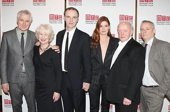 OUTSIDE MULLINGAR's John Patrick Shanley (playwright), Dearbhla Molloy, Brian F. O'Byrne, Debra Messing, Peter Maloney, Doug Hughes (director)