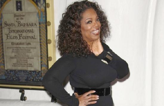 oprah posing