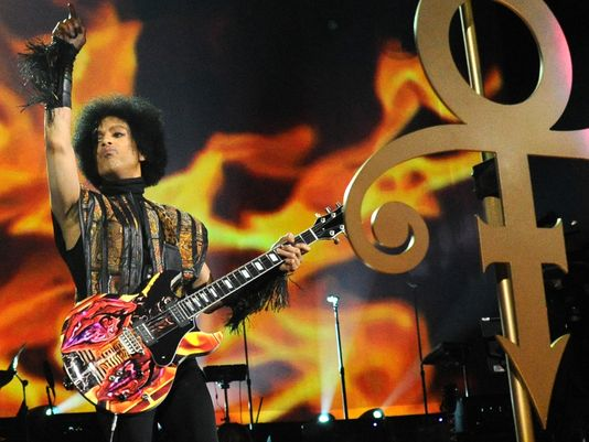Prince performs at the Mohegan Sun Arena, in Uncasville, Conn. December 29, 2013
