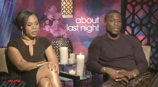 regina hall & kevin hart (screenshot - about last night)