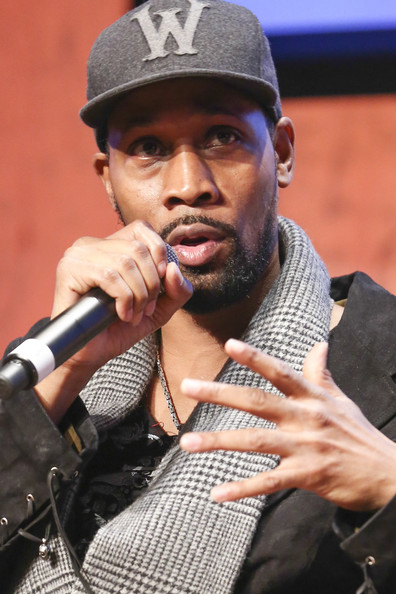 Actor RZA speaks during a panel discussion following the premier of 'Gang Related' at the aTVfest on February 8, 2014 in Atlanta, Georgia