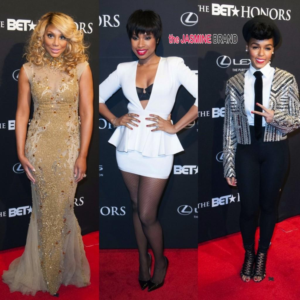 (L-R) Tamar Braxton, Jennifer Hudson, Janelle Monae at BET Honors 2014 - Warner Theater, Washington DC