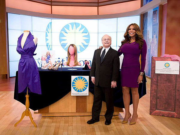 Wendy Williams with Smithsonian curator Dwight Blocker Bowers