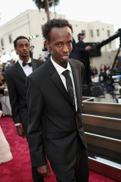 Barkhad Abdi and Faysal Ahmed attend the Oscars at Hollywood & Highland Center on March 2, 2014 in Hollywood, California