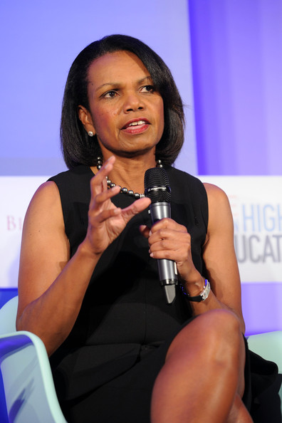 Former US secretary of the State and professor Condoleezza Rice at the TIME Summit On Higher Education Day 1 at Time Warner Center on September 19, 2013 in New York City