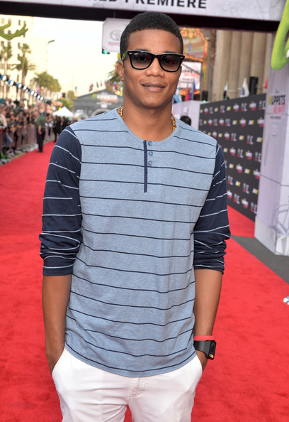 Actor Cory Hardrict arrives at the world premiere of Disney's 'Muppets Most Wanted' at the El Capitan Theatre on March 11, 2014 in Hollywood, California