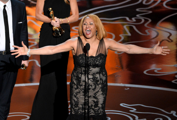 Singer Darlene Love accepts the Best Documentary, Feature award for '20 Feet from Stardom' onstage during the Oscars at the Dolby Theatre on March 2, 2014 in Hollywood, California