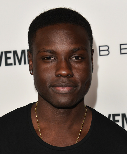 """Actor Dayo Okeniyi arrives to the premiere of """"Cavemen"""" at the ArcLight Cinemas on February 5, 2014 in Hollywood, California"""