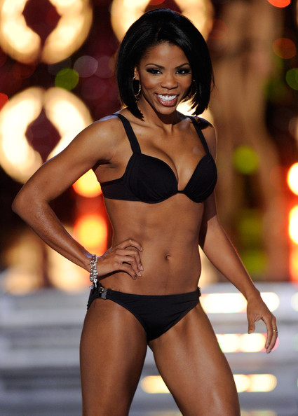 Djuan Keila Trent, Miss Kentucky, competes in the swimsuit competition during the 2011 Miss America Pageant at the Planet Hollywood Resort & Casino January 15, 2011 in Las Vegas, Nevada