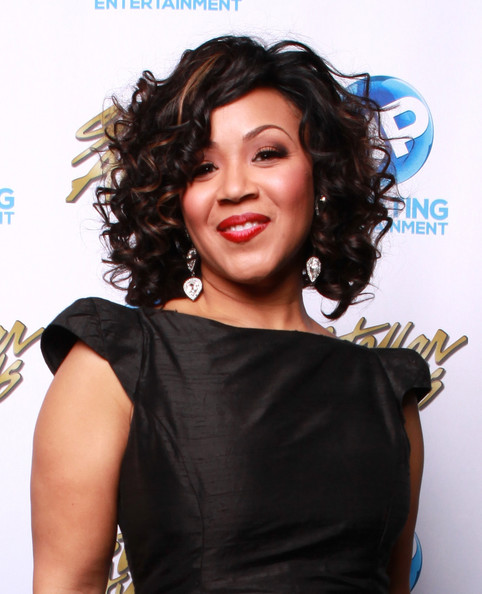 Erica Campbell backstage at the 2014 Stellar Awards at Nashville Municipal Auditorium on January 18, 2014 in Nashville, Tennessee