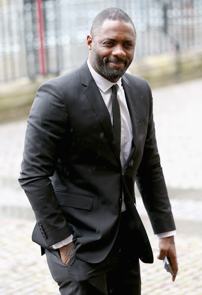 Actor Idris Elba arrives for a National Service of Thanksgiving to celebrate the life of Nelson Mandela at Westminster Abbey on March 3, 2014 in London, England