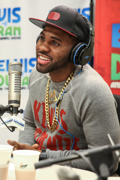 Singer Jason Derulo visits the Elvis Duran Z100 Morning Show at Z100 Studio on January 31, 2014 in New York City