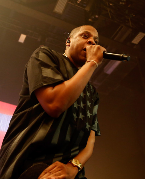 JAY Z performs onstage as Samsung Galaxy presents JAY Z and Kanye West at SXSW on March 12, 2014 in Austin, Texas