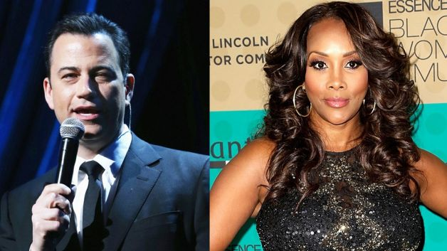 Jimmy Kimmel and Vivica A. Fox