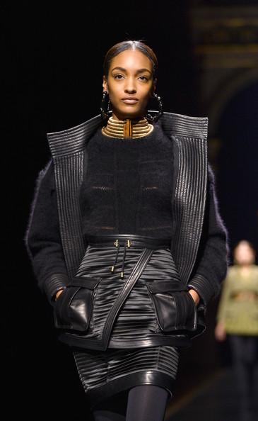 Model Jourdan Dunn walks the runway during the Balmain show as part of the Paris Fashion Week Womenswear Fall/Winter 2014-2015 on February 27, 2014 in Paris