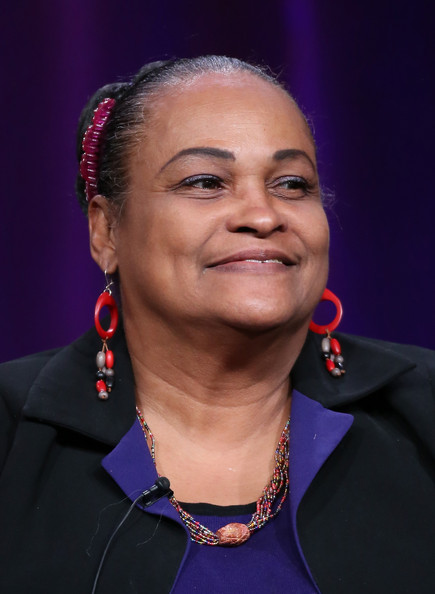 "Khalilah Camacho-Ali speaks onstage during the ' Independent Lens/""Trials of Muhammad Ali"" 'panel discussion at the PBS portion of the 2014 Winter Television Critics Association tour at Langham Hotel on January 21, 2014 in Pasadena, California"