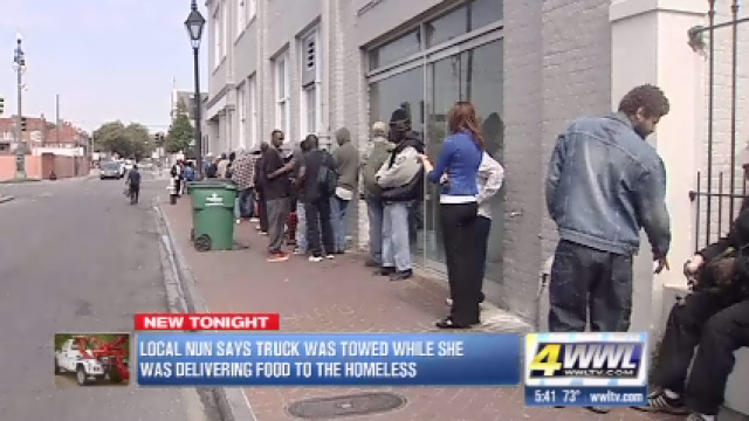Nuns truck towed from homeless shelter