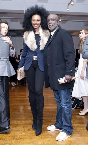 Cynthia Bailey and Peter Thomas attend the Raul Penaranda fall 2012 fashion show during Mercedes-Benz Fashion Week at Midtown Loft & Terrace on February 15, 2012 in New York City.