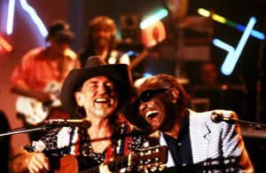 Willie Nelson and Ray Charles