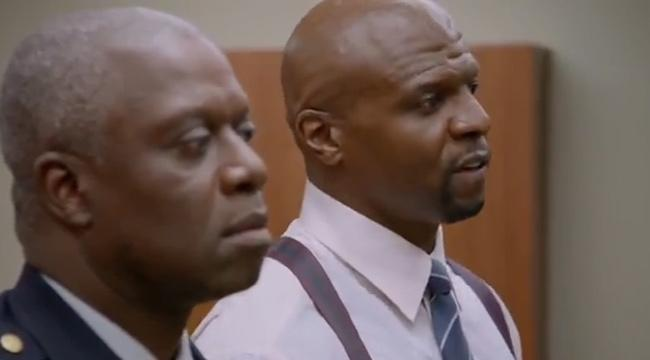 "Andre Braugher (L) and Terry Crews in Fox's ""Brooklyn NIne-Nine"""