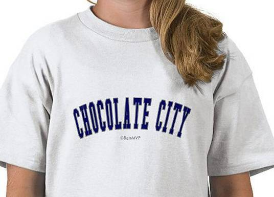 White woman wears Chocolate City Tee