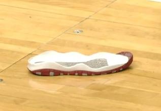 The sole of Tony Wroten's shoe