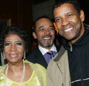 aretha and denzel at 72nd b-day