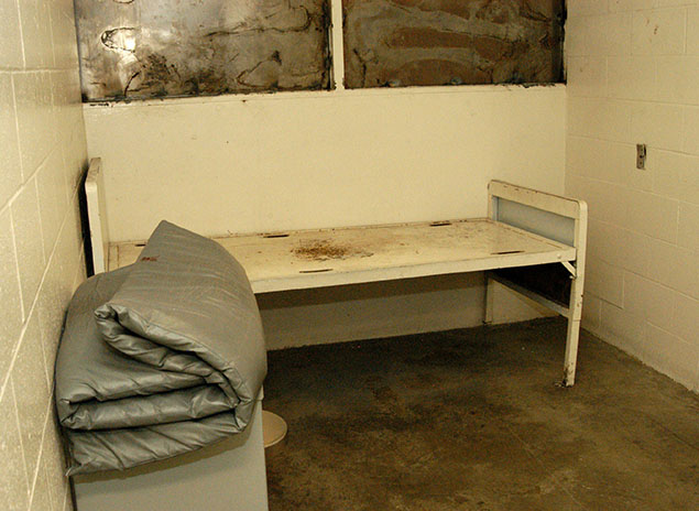 A cell at the notorious Men's Central Jail in downtown LA, in 2006