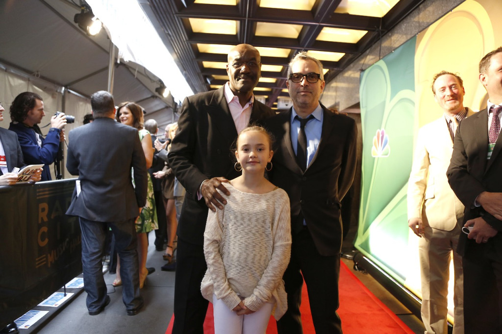 """NBCUNIVERSAL EVENTS -- 2013 NBC Upfront Presentation, Arrivals -- Pictured: (l-r) Deroy Lindo, Johnny Sequoyah, Alfonso Cuaron """"Believe"""" -- (Photo by: Heidi Gutman/NBC)"""