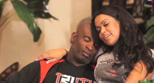 "Deion Sanders and Tracey Edmonds in ""Deion's Family Playbook"" on OWN"