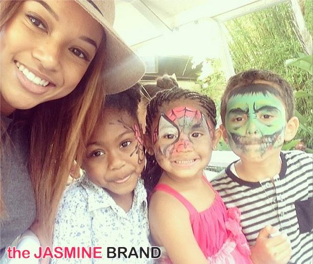 karrueche tran-christina milian-daughter violet 4th birthday 2014-the jasmine brand