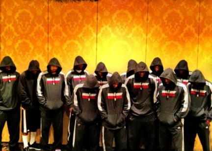 miami heat in hoodies - support for trayvon