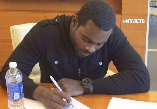 michael vick - signing ny jets contract