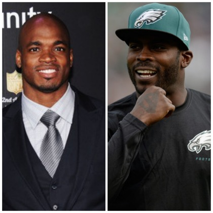 adrian peterson & michael vick
