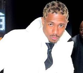 nick cannon - white outfit - crazy hair1
