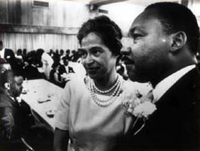 Rosa Parks with Dr. Martin Luther King, Jr.