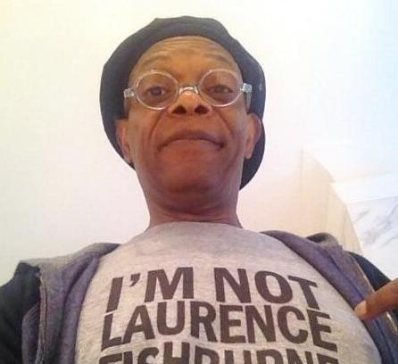 sam jackson - not fishburne t-shirt-twitter