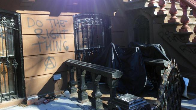 spike lee - vandalized home