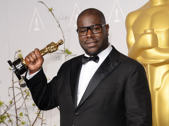 "Director Steve McQueen, winner of Best Picture for ""12 Years a Slave"", poses in the press room during the Oscars at Loews Hollywood Hotel on March 2, 2014 in Hollywood"