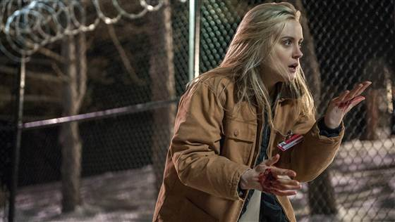 "Taylor Schilling in a scene from Netflix's second season of ""Orange is the New Black."""