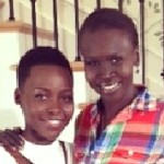 Lupita Nyong'o Finally Meets her Idol Alek Wek (Watch)