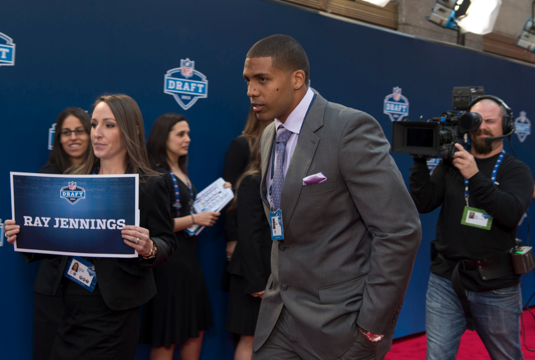 "Arian Foster as Ray Jennings in the film ""Draft Day"""