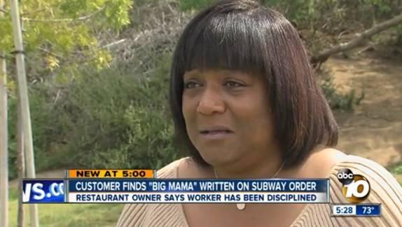Big Mama Subway message