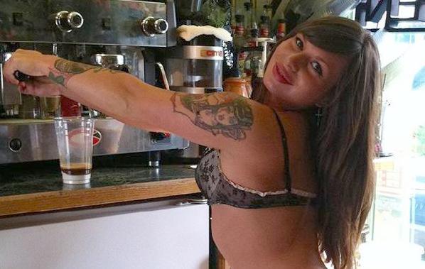 baristas in bikinis