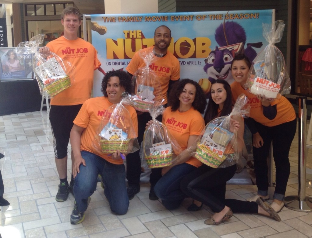 The Nut Job cast spread Easter baskets and cheer in DC, Chicago and Dallas.