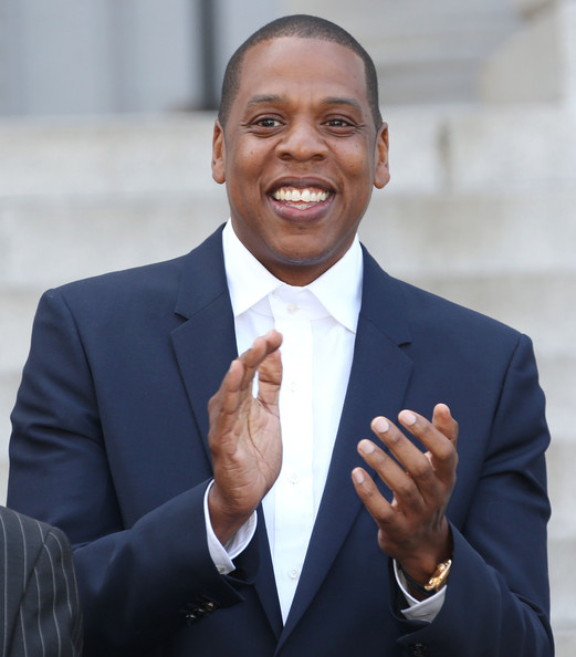 "Shawn ""Jay Z"" Carter, Makes Announcement on the Steps of City Hall Downtown Los Angeles for the Budweiser Made in America Music Festival on Labor Day Weekend at Los Angeles City Hall on April 16, 2014 in Los Angeles"