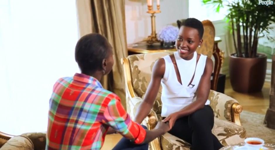 Lupita Nyongo and Alek Wek Meet